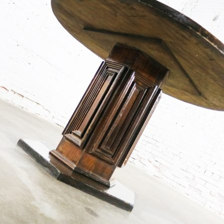 Spanish Colonial Revival Style Round Dining Table with Single Pedestal Three Available