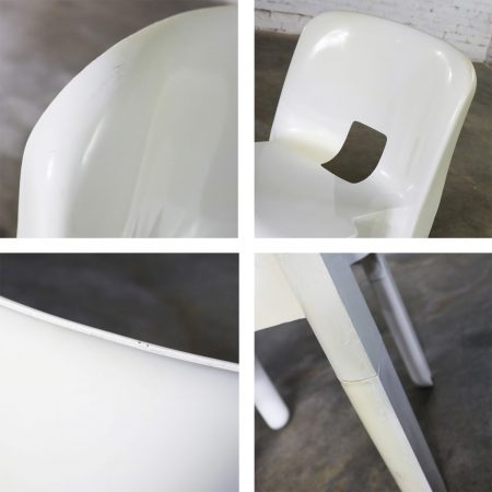 Sedia Universale 4867 Plastic Chair by Joe Columbo for Kartell in White