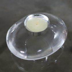 Orrefors Lightstone River Rock Votive Tealight Candle Holder by Lena Bergstrom