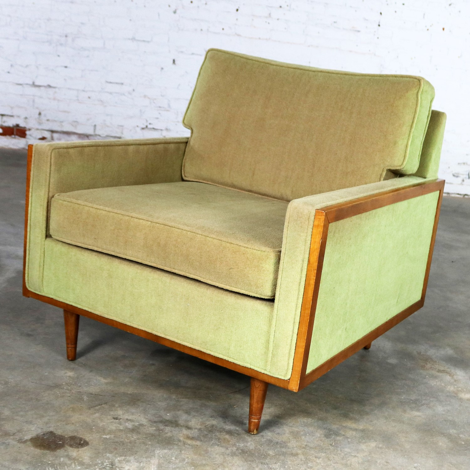 Pleasant Mid Century Modern Cube Lounge Club Chair Style Of Milo Machost Co Dining Chair Design Ideas Machostcouk