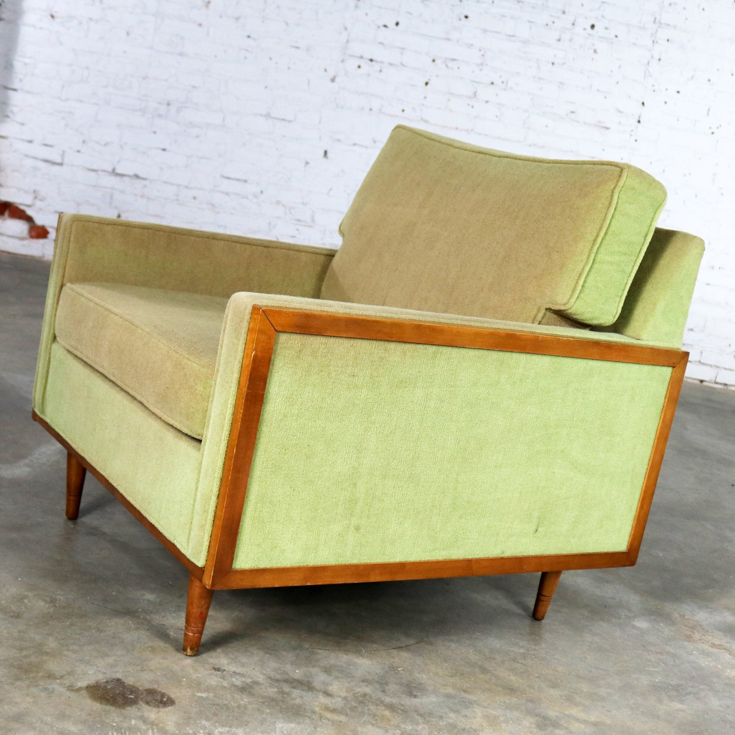 Fantastic Mid Century Modern Cube Lounge Club Chair Style Of Milo Machost Co Dining Chair Design Ideas Machostcouk