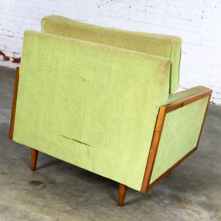 Mid Century Modern Cube Lounge Club Chair Style of Milo Baughman
