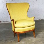 Art Deco Style High Wingback Lounge Chair from John M. Smyth Company Chicago