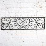 Antique Swirled Design Wrought Iron Railing Piece Trellis or Fence Section