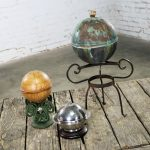 Collection of Orb Objects on Stands as Centerpiece or Object d 'Art
