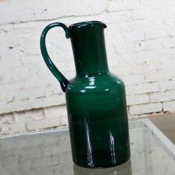 Venini Murano Signed Green Cocktail Pitcher
