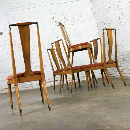 Mid Century Contempora Dining Chairs by William Clingman for J. L. Metz Set of Six