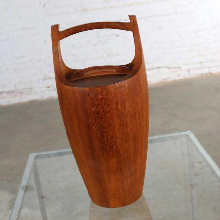 Monumental Dansk Staved Teak Bucket Style Ice Bucket by Jens Quistgaard