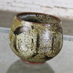 Mid Century Modern Studio Ceramic Stoneware Pot by Mark Zamantakis