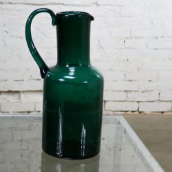 Venini Murano Signed Green Cocktail Pitcher