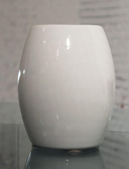 Vintage White Vitreous China La Croix Crucible or Mortar Vase