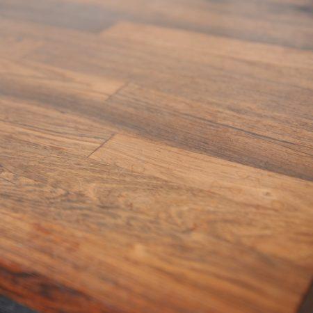 Mid Century Modern Rosewood Ebony Chrome Milo Baughman or Knoll-Style End Table
