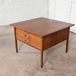 Danish Mid-Century Modern End Table w/ Three Drawers