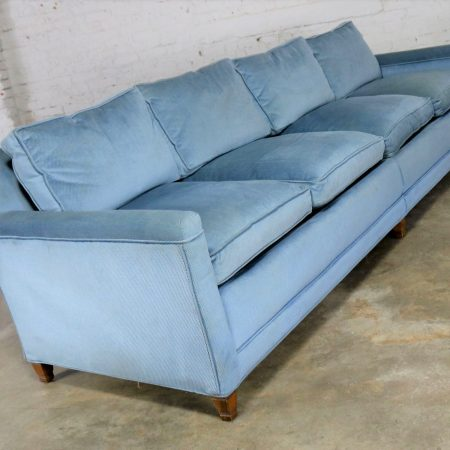 Powder Blue Lawson Style Four Cushion Sofa Vintage Mid Century Modern