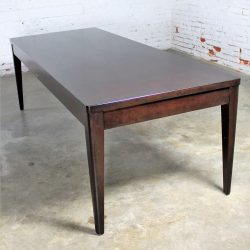 Library Style Dark Espresso Stained Maple Dining Table Vintage Modern by Bro-Dart Industries