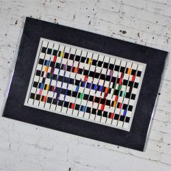 Yaacov Agam Serigraph One and Another No. 2 Signed and Marked E.A.
