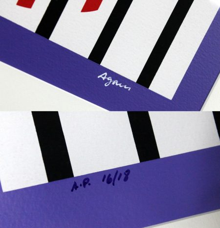 Yaacov Agam Composition III Signed Serigraph in Color Artist Proof 16 of 18