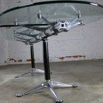 Vintage Herman Miller Glass & Aluminum Beam Table or Desk by Bruce Burdick