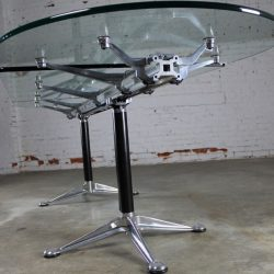 Vintage Herman Miller Glass & Aluminum Beam Table or Desk by Bruce Burdick