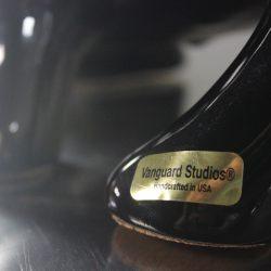 Large Royal Haeger Style Black and Gold Vanguard Studios Bull