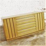 Vintage Mid Century Modern Sligh Furniture Cross Country Blonde Buffet Cabinet