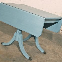 Federal Duncan Phyfe Style Robin's Egg Blue Shabby Chic Dining Table