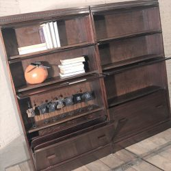 Vintage Federal Style Barrister Stacking Bookcases in Mahogany