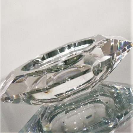 Vintage Val St. Lambert Crystal Amadis Art Deco Ashtray