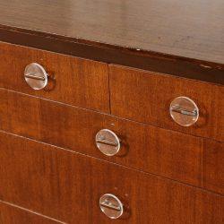 Vintage Art Deco Buffet Cabinet with Lucite Handles