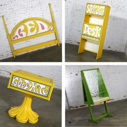 Drexel Plus One Peter Max Style Four Piece Bedroom Set 1970