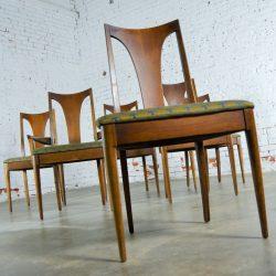 Mid-Century Modern Broyhill Brasilia 6140-84 & 85 Single Splat Dining Chairs