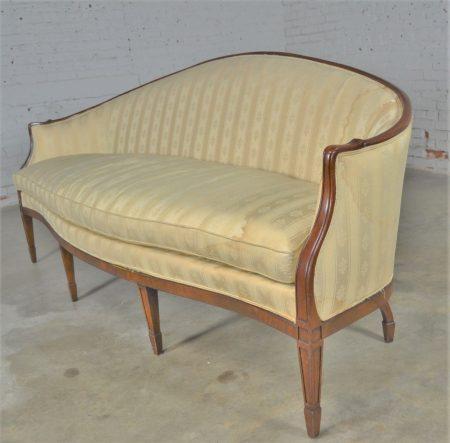 Vintage Hickory Chair Company Regency Style Mahogany Frame Sofa