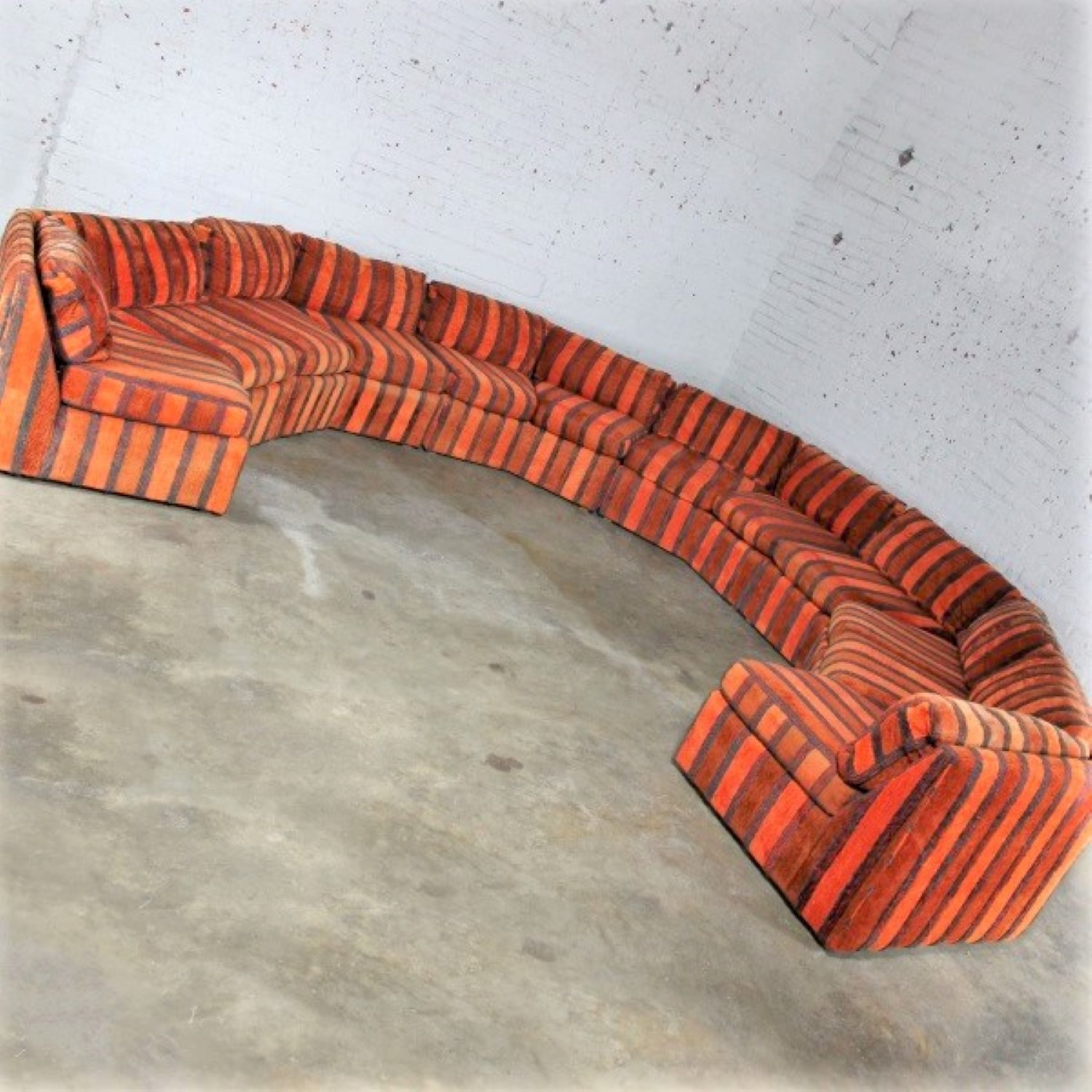 Fabulous Curved Six Piece Milo Baughman Style Sectional Sofa By Caraccident5 Cool Chair Designs And Ideas Caraccident5Info