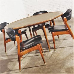 Vintage Mid Century Modern Americana Casual Game Table & Chairs by Jack Van der Molen for Jamestown Lounge Company