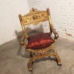 Antique Gilded Savonarola Chair