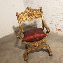 Antique Gilded Savonarola Chair