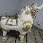 Torito de Pucara Antique Pottery Peruvian Bull Vessel