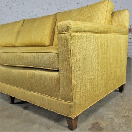 Vintage Mid Century Four Cushion Extra Long Lawson Style Golden Yello
