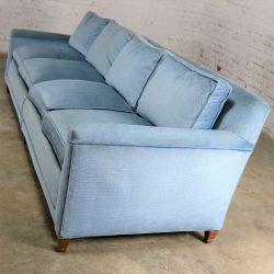 Powder Blue Lawson Style Four Cushion Sofa Vintage Mid Century Modern