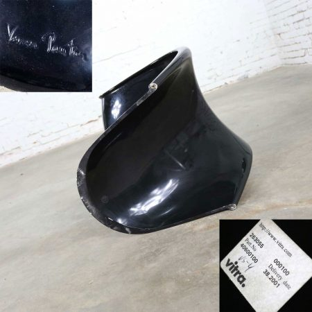 Gloss Black Verner Panton Chair Classic Molded S Chair by Vitra Signed
