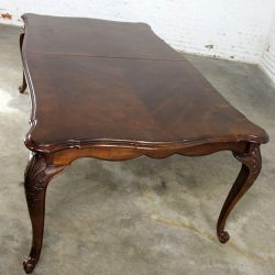Walnut Louis XV Style French Country Dining Table Attributed Bernhardt Avignon Collection