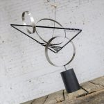 C Jere Kinetic Op Art Triangles and Circles Table Sculpture