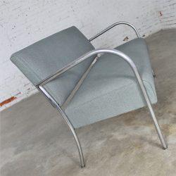Art Deco Machine Age Streamline Moderne Royal Metal Co. Chrome and Upholstered Bench Sofa