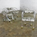 Lucite Rolling Chairs Style of Charles Hollis Jones for Pace Set of Four