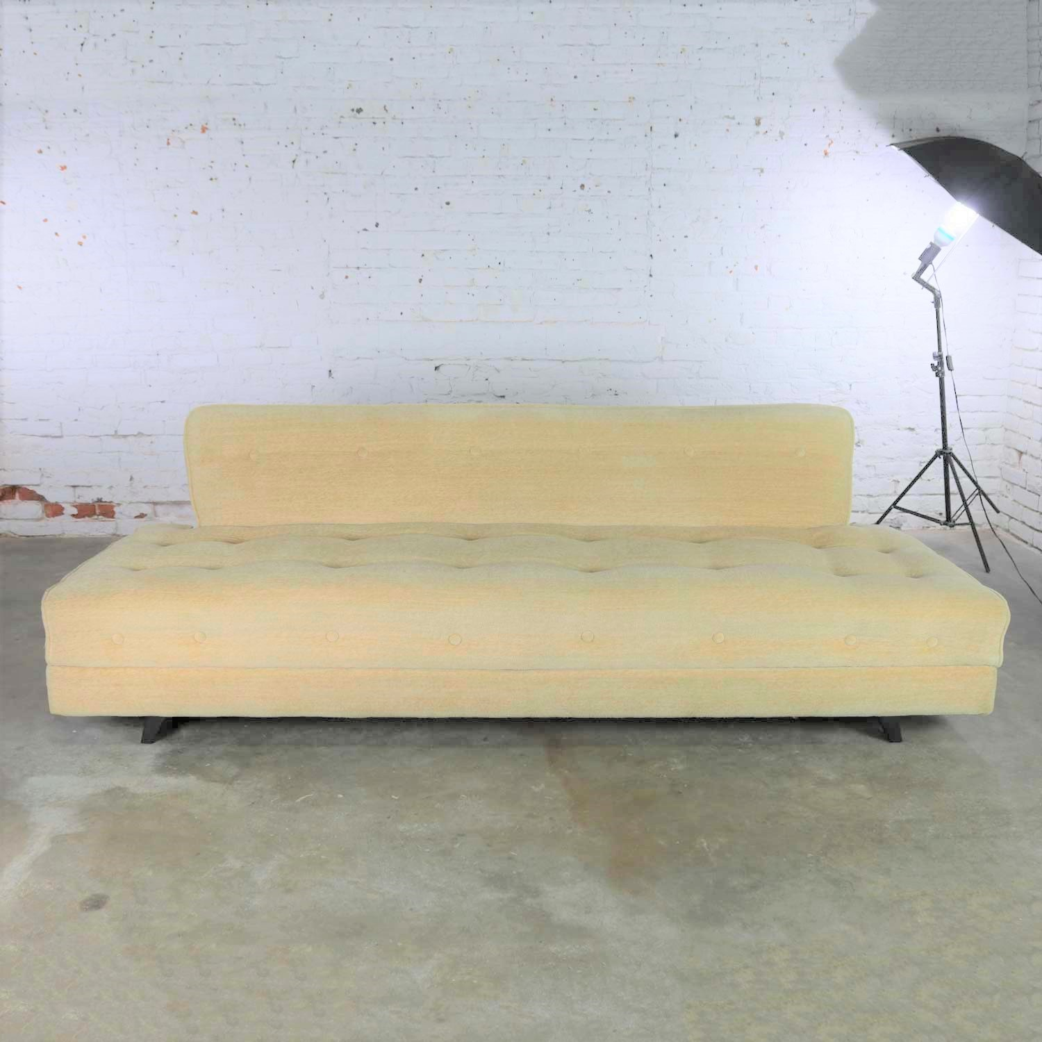 Mid Century Modern Convertible Sofa Bed with Button Detail in ...