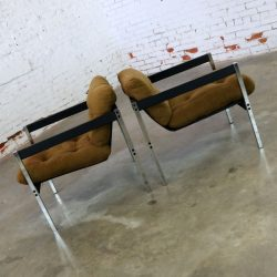 Pair Landes Manufacturing Sling Lounge Chairs 683 from Encino Collection by Jerry Johnson