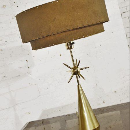 Mid Century Sputnik Table Lamp by Laurel Lighting w/ Original Shade
