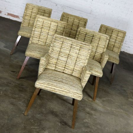 Architectural Modern Dining Chairs by Morris of California Mid Century Modern Set of Six