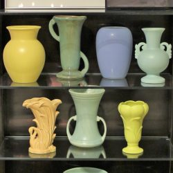 Vintage Collection of 7 Mid-Century Pottery Vases Various Makers