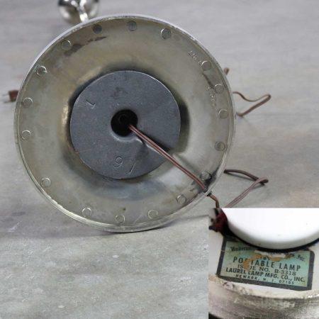 Mid Century Modern Mushroom Floor Lamp in Chrome by The Laurel Lamp Company